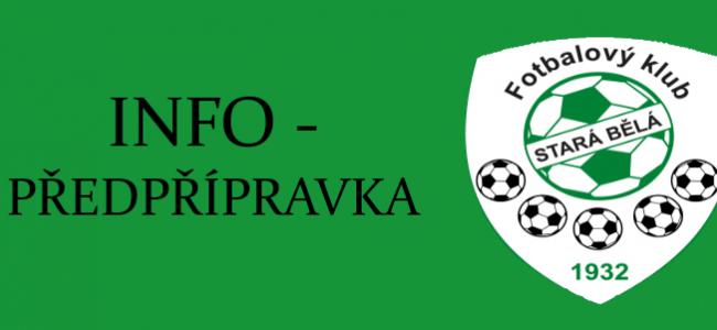 PŘEDPŘÍPRAVKA - TRÉNINK 15. 10. 2021